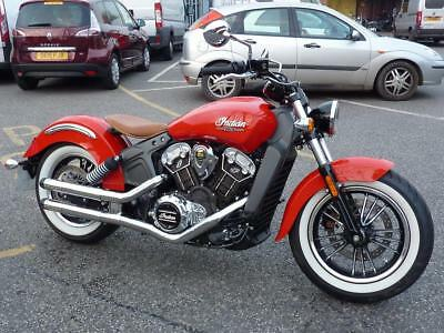 Indian Scout 1200 ABS Pearl Red Just 351 Miles 1 Owner