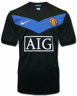 Manchester United Away Football Shirt 2009-2010 Size Large. Anderson 8 on back.