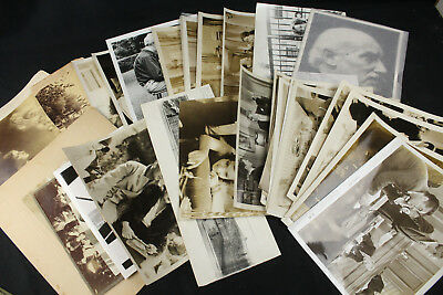 Large Lot of 35 Vintage & Antique B&W Photos Some Movies, Cabinet Cards & Others