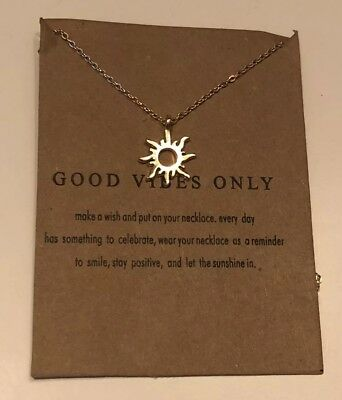 cffe3e5a982601 DOGEARED GOOD VIBES Only Sun Pendant Necklace, 16