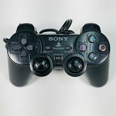 Sony Playstation 2 PS2 Black Dualshock 2 Wired Controller SCPH-10010 OEM Origina