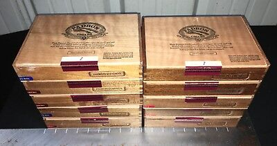 Padron Londres Empty Wooden Cigar Boxes! Lot Of 10! C
