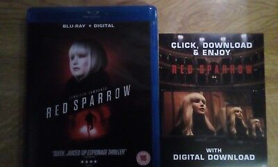 Red Sparrow Digital code Only Ultraviolet UV code from Blu Ray