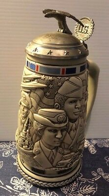 Avon Salute To American Armed Forces United States Military Tribute Stein