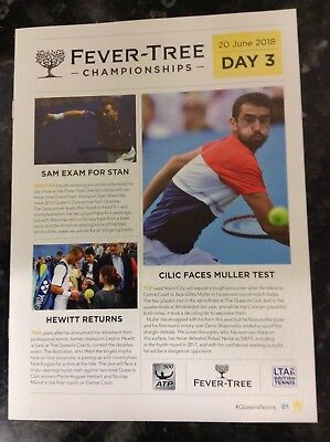 2018 Fever-Tree Championships Daily Programme: Day 3: ATP Tennis