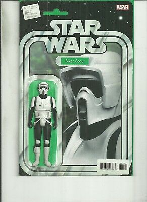 STAR WARS #59 ACTION FIGURE VARIANT BIKER SCOUT  Marvel Comics 1ST PRINT NM 2018