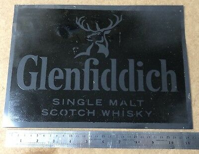 Glenfiddich Whiskey A4 Stencil - Re-use again and again! Spray or Paint