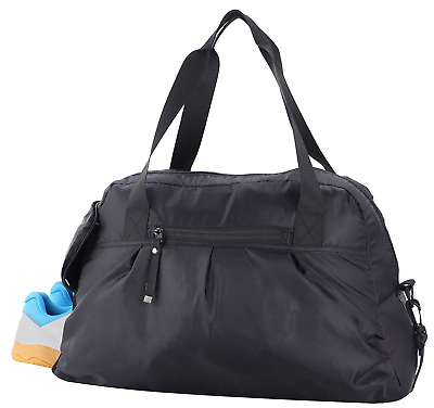 7eb2480b3a08 MIER Gym Sports Duffel Bag with Shoes Compartment Travel Overnight Weekend.