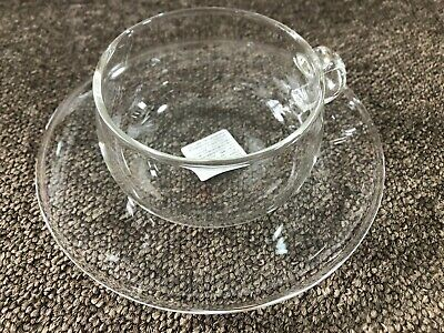 KINTO UNITEA Cup and Saucer 230ml Glass 8330 Coffee Tea from JAPAN