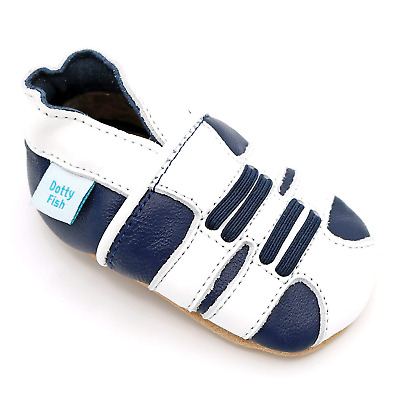 Dotty Fish Soft Leather Baby Shoes. 0-6 Months to 4-5 Years. Cars, Space and...