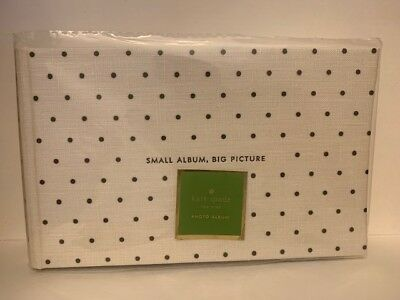 "Kate Spade Photo Album ""Small Album, Big Picture"" Polka Dots 80 4x6"" Pics New"