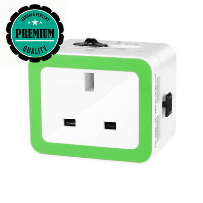 Portable Travel Adapter,Wetoph GF01 Quick Charger Universal Adapter Plug...