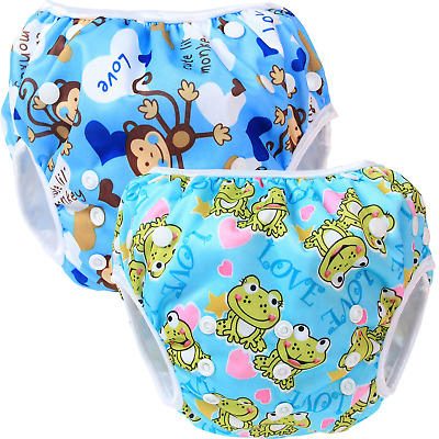 Teamoy Reusable Swim Nappy(2 Packs) for Baby Boys& Girls, Comfortable,...