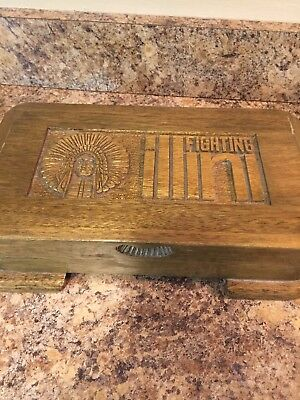 Castlewood Hand Crafted Fighting Illini Wood Box Jewery