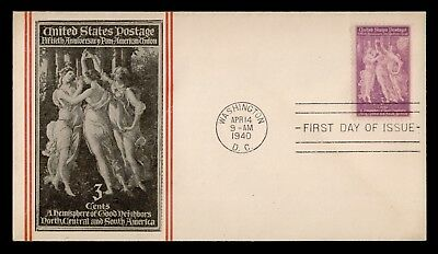 Dr Who 1940 Pan-American Union 50Th Anniversary Fdc Crosby Cachet C60538