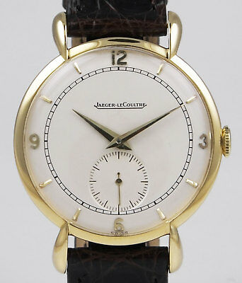 Jaeger LeCoultre 18K Manual Wind - Large Size - White Sub-Seconds Dial (1949)
