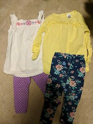 (2) Toddler Girls size 3T Carter's spring Outfits In Good Condition