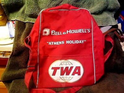 Vintage TWA Bell & Howell's Athens Holiday Bag