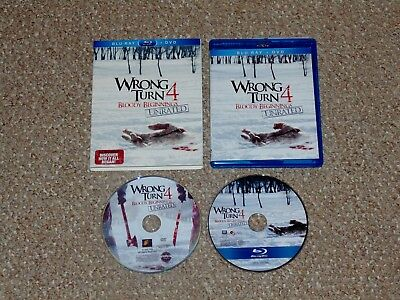 Wrong Turn 4: Bloody Beginnings Blu-ray/DVD Combo 2011 with Slip Cover