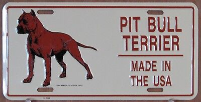 Pit Bull Terrier Vintage Licence Plates, Lot of 3