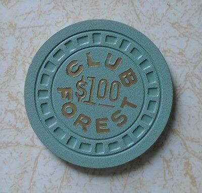 Obsolete, Rare, Club Forest $1.00  Casino Chip, Excellent
