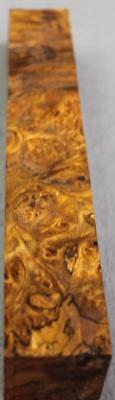 Asian Satinwood Burl, Cue Handle, Duck Call, Etc. Nice Color & Spalted! (Mpb983)