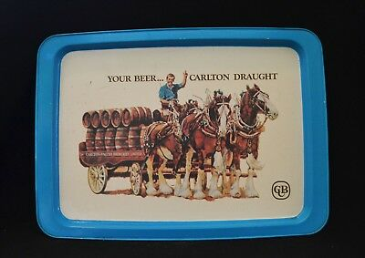 Carlton Draught Beer Metal Vintage Tray Extremely Rare