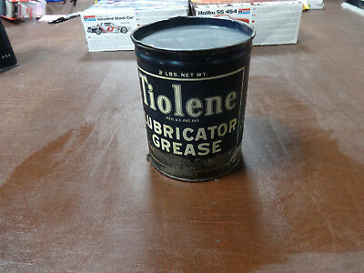 1930's Vintage Pure Oil Co. Tiolene Purol 2 Lb Grease Can Gas Station Sign Pump