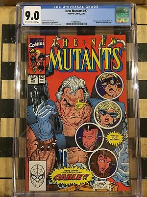 New mutants 87 cgc 9.0 FIRST appearance of CABLE
