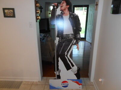 6' NEW RARE Michael Jackson Life Size Pepsi brand Cardboard Stand up display NEW