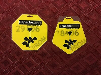 "Depeche Mode Backstage Passes From ""World Violation"" Tour"