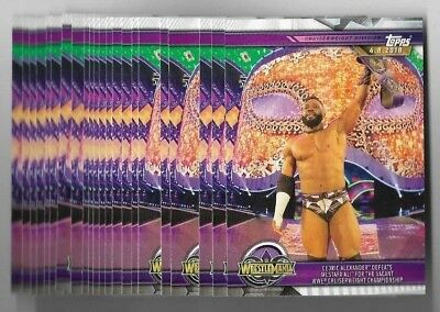 (22) CRUISERWEIGHT CHAMPIONSHIP 2019 Topps WWE Road To Wrestlemania Lot #54