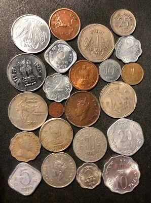 OLD India Coin Lot - 1900-PRESENT - 23 Excellent Coins - Lot #J15
