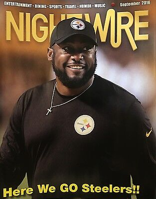 Mike Tomlin PITTSBURGH STEELERS  Night Wire Magazine Unsigned