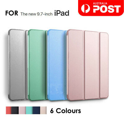 """iPad 9.7"""" 5/6th Gen 2018/2017 Shockproof Smart Cover Case Soft Back 2 Stand"""