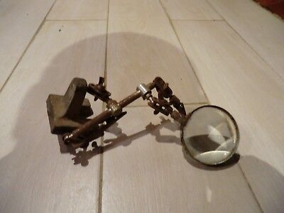 Antique Jewelery Magnifying glass Repair Stand Decor