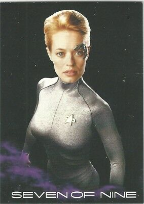 Star Trek Voyager Heroes and Villains REWARD card BB10 Black Gallery 7 of 9