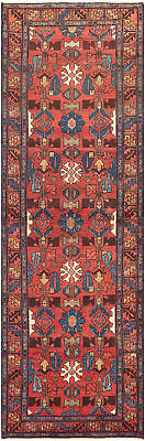 """Hand-knotted Persian Carpet 3'1"""" x 10'0"""" Persian Traditional Wool Rug"""