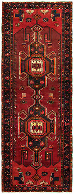 """Hand-knotted Persian Carpet 3'5"""" x 10'0"""" Persian Traditional Wool Rug"""