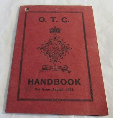 1942 Brockville Rifles OTC Officers Training Handbook Canadian Military WWII OLD