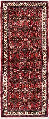 """Hand-knotted Persian Carpet 2'4"""" x 6'1"""" Persian Traditional Wool Rug"""