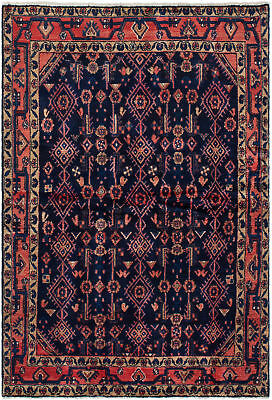 """Hand-knotted Persian Carpet 4'4"""" x 6'6"""" Persian Traditional Wool Rug"""