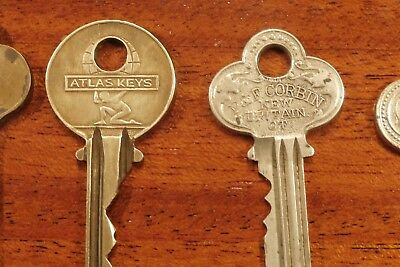 "Vintage BRASS KEY Lot of ""14 of My Best"" ATLAS EAGLE RUSSWIN  MASTER CURTIS"