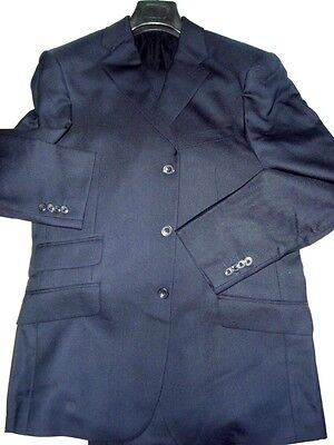 $500 NWT T.M. LEWIN NAVY BLUE 40 eu50 R men's 3 button British WOOL hopsack suit