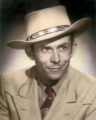 "HANK WILLIAMS COUNTRY WESTERN SINGER SONGWRITER 8x10"" HAND COLOR TINTED PHOTO"