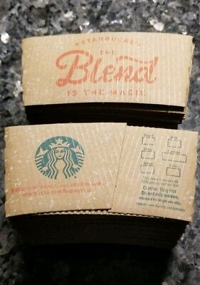 STARBUCKS 2018 COFFEE US Holiday Sleeve THE BLEND IS THE MAGIC- NEW Lot of 50