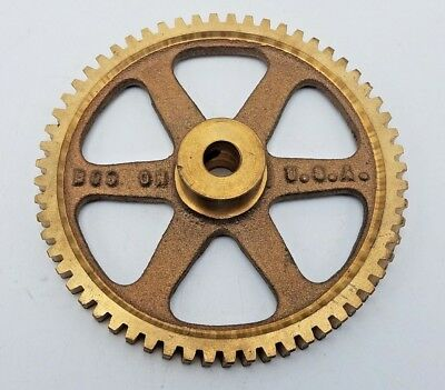 "3-7/8"" Boston Gear G1048 Bronze WormGear Steampunk Brass Gear Pulley G-1048G"