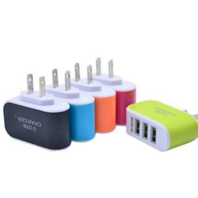 Universal 3.1A Triple USB 3 Port Wall Home Travel AC Charger Adapter US Plug