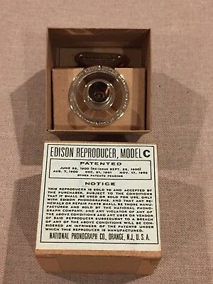 PAUL BAKER reproduction EDISON REPRODUCER MODEL C NEW IN BOX