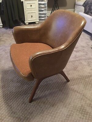 Mid Century Modern Vintage Barrel Bucket Arm Chair